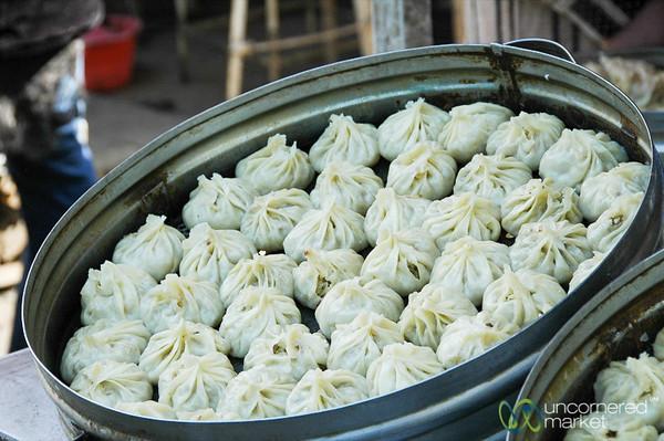 Steamed Manti (Dumplings) - Osh, Kyrgyzstan