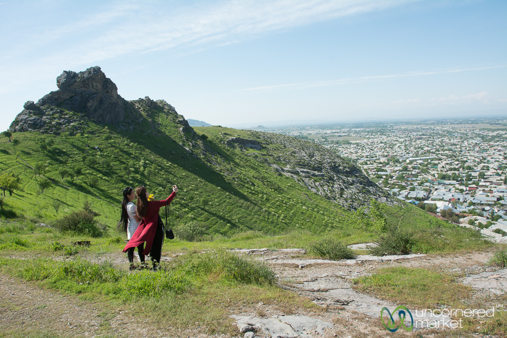 Selfies at Suleimann-Too Mountain - Osh, Kyrgyzstan