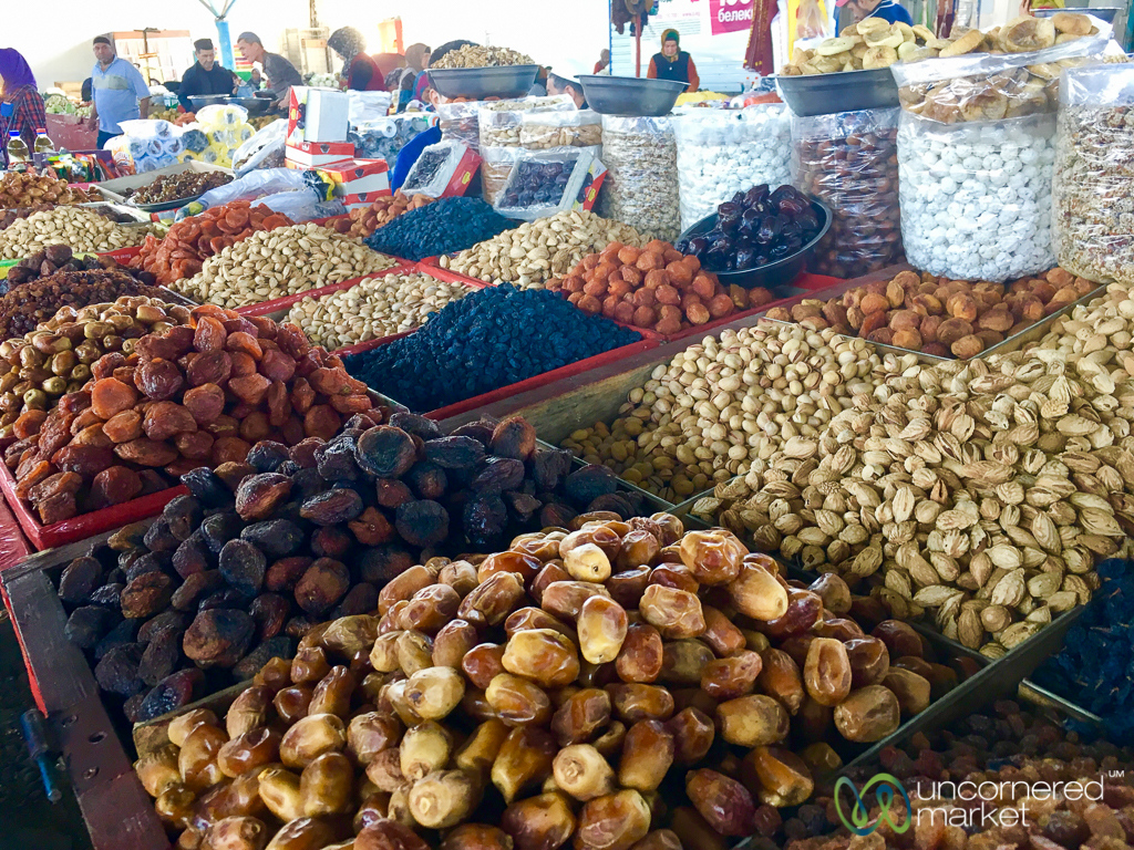 Dried Fruits and Nuts at Uzgen Bazaar- Kyrgyzstan