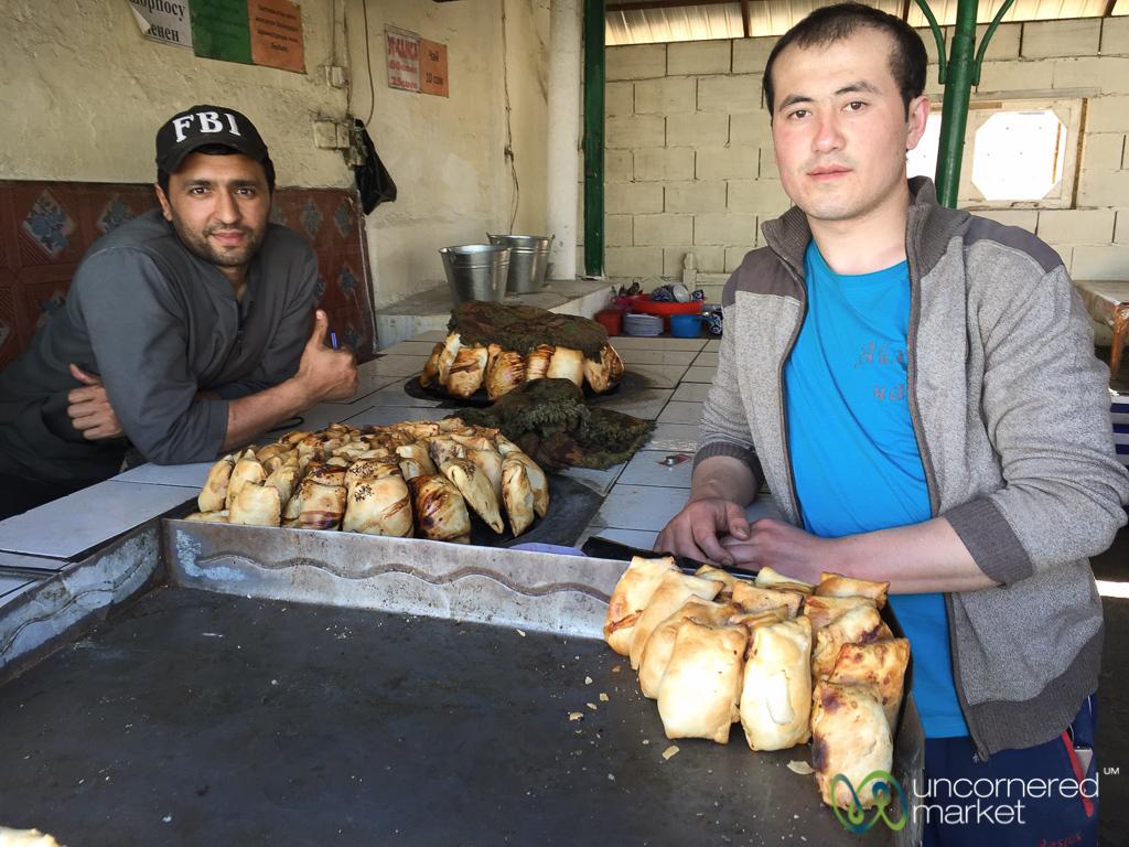 Somsa at the Uzgen Bazaar - Uzgen, Kyrgyzstan