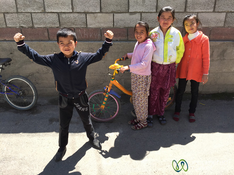 Friendly Kids on the Streets of Osh - Kyrgyzstan