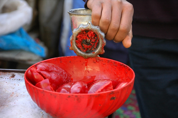 Ground Peppers for Lagman - Osh, Kyrgyzstan