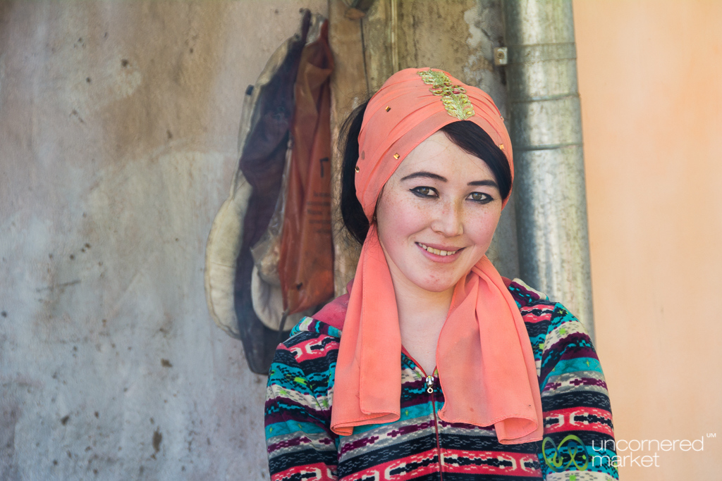 Uzgen Woman and Host - Kyrgyzstan