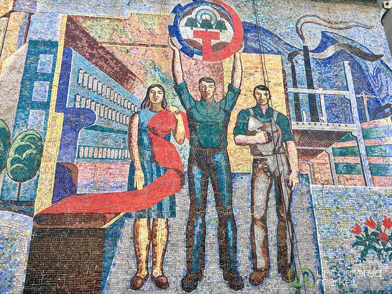 Soviet Mural in Osh, Kyrgyzstan