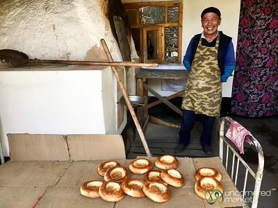 Liposhka (Osh bread) Baker - Osh, Kyrgyzstan