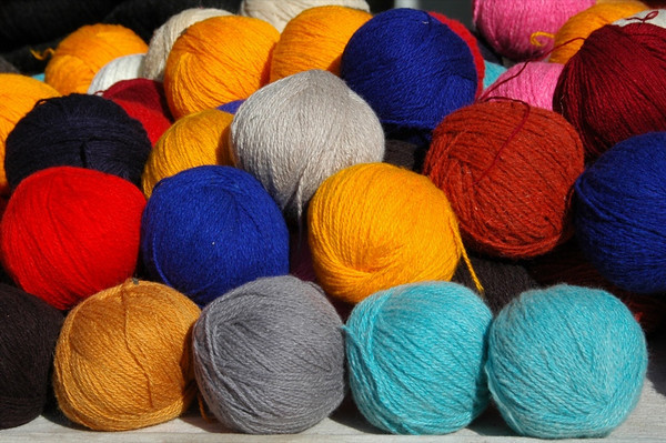 Colorful Balls of Yarn at Market in Osh, Kyrgyzstan