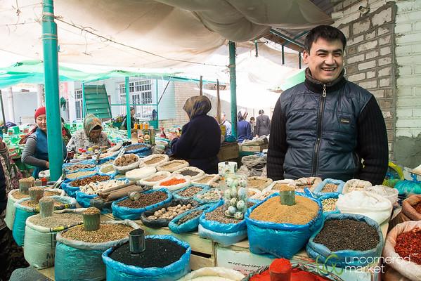 Spice Vendor at Osh Bazaar, Kyrgyzstan