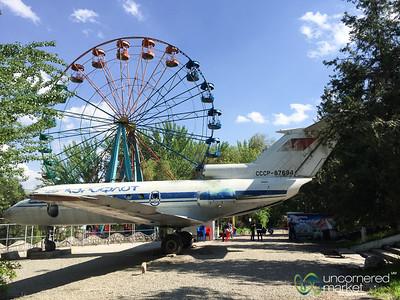 Aeroflot Plane in the Park - Osh, Kyrgyzstan