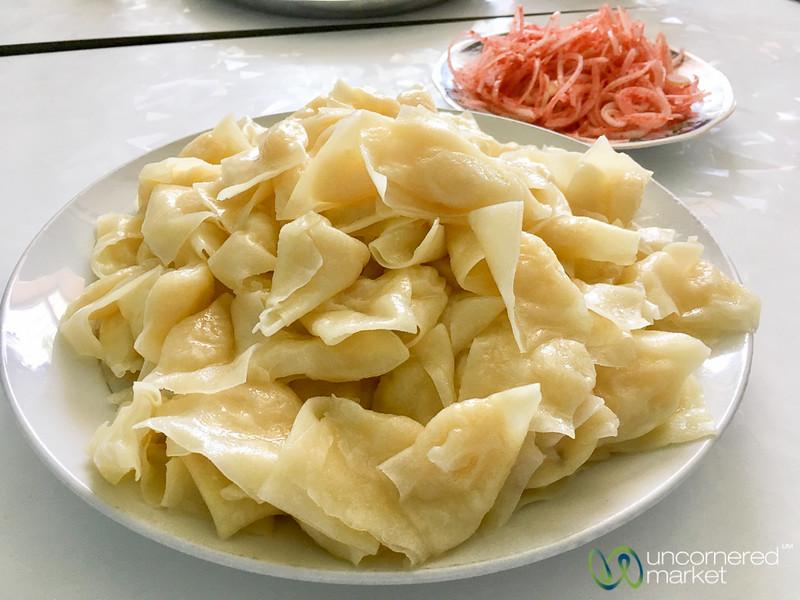 Maida Manti (small dumplings), an Osh Specialty - Kyrgyzstan
