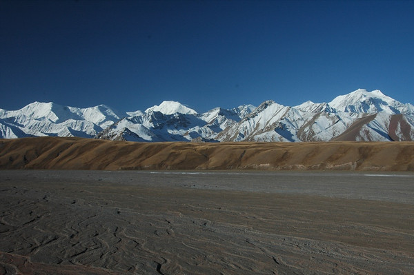 Blue Skies, Snow-Capped Mountains - Sary Tash, Kyrgyzstan