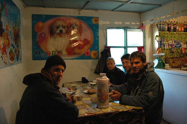 Breakfast at Hostel - Sary Tash, Kyrgyzstan