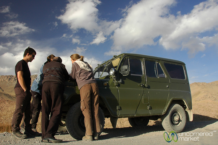 Planning Travels on Jeep - Sary Tash, Kyrgyzstan