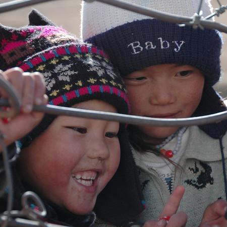 Kyrgyz Kids in Hats - Sary Tash, Kyrgyzstan