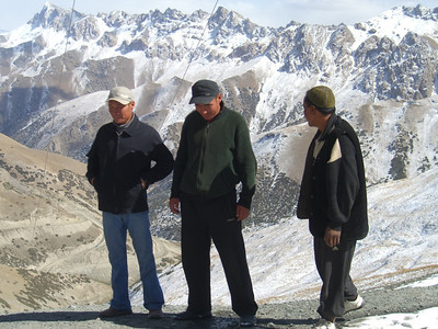 Kyrgyz Truckers' Break - Osh to Sary Tash, Kyrgyzstan