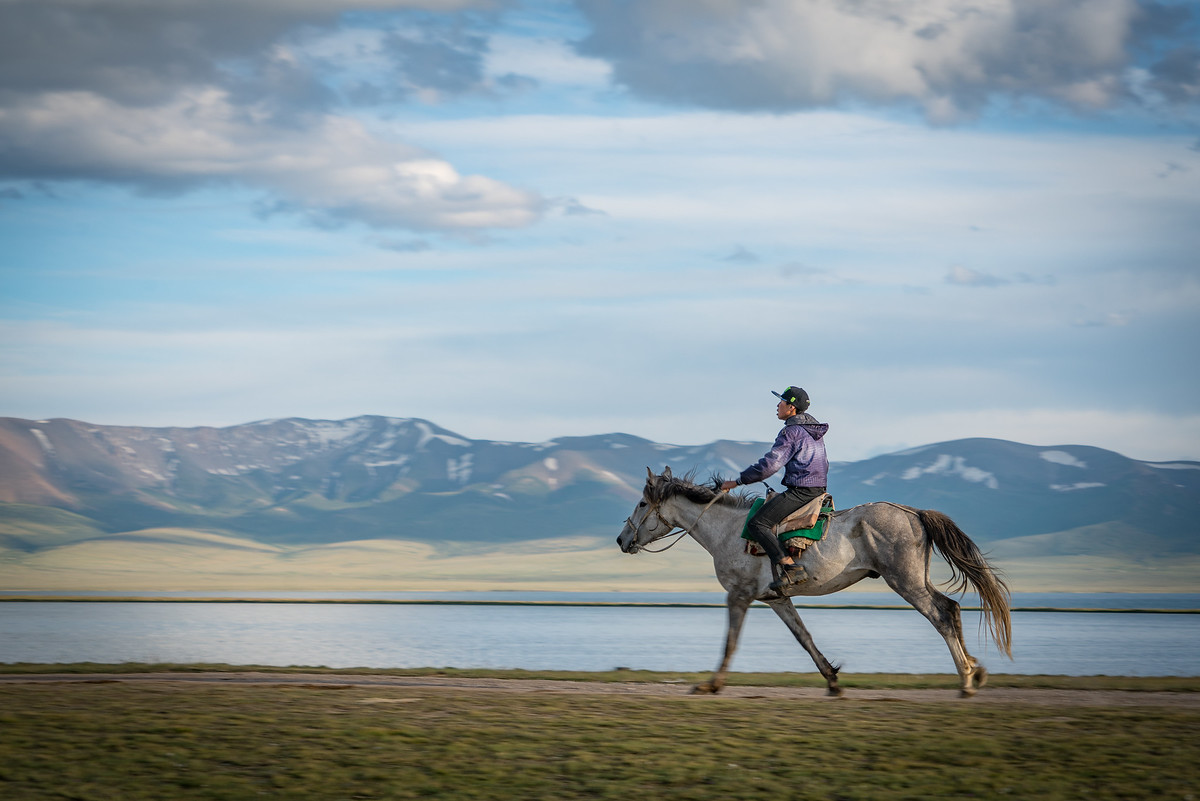Man on horseback in Song Kul