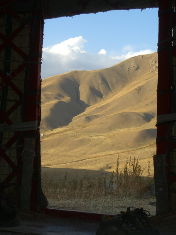 View from a Yurt  - Song Kul Lake, Kyrgyzstan