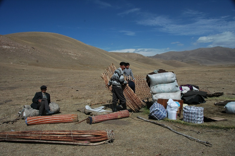 Taking Down a Yurt - Song Kul, Kyrgyzstan