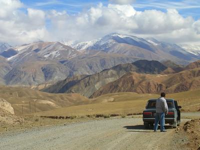 Leaving Song Kul Lake - Song Kul Lake, Kyrgyzstan