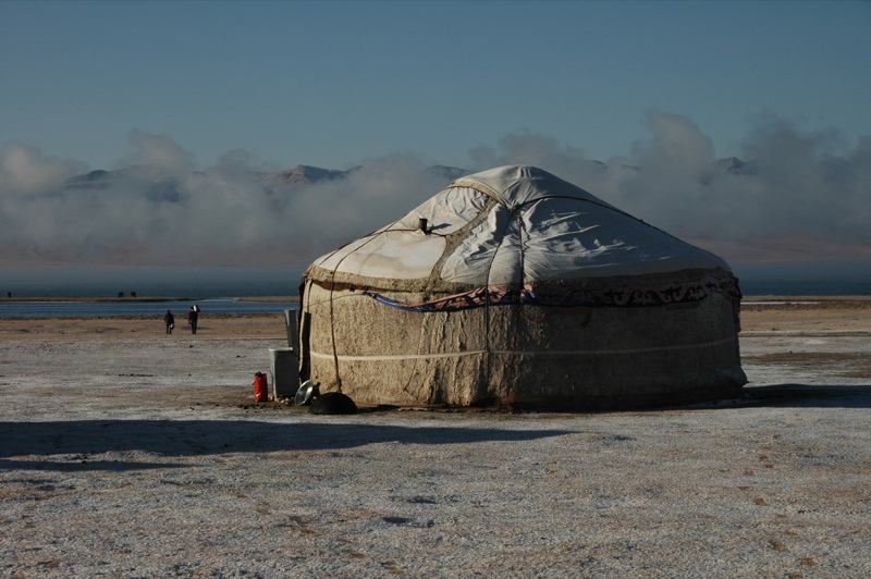 First Snow and Yurt - Song Kul, Kyrgyzstan