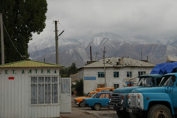 Mountains and Trucks - Kochkor, Kyrgyzstan