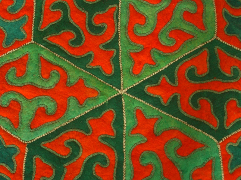 Shyrdaks, Colorful Kyrgyz Felt Rugs - Kochkor, Kyrgyzstan