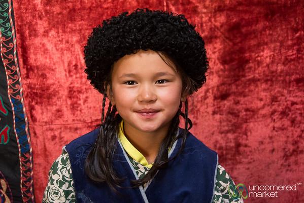 Kyrgyz Girl with 40 Braids - Kyrchyn Cultural Festival, Kyrgyzstan
