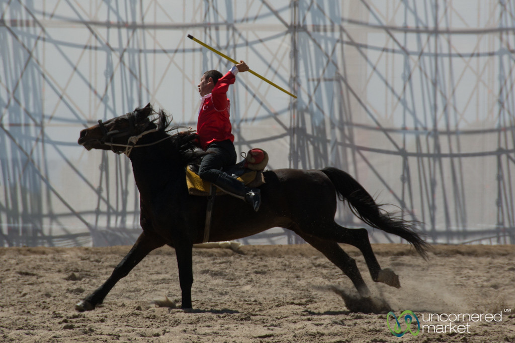 Ready to Throw the Javelin at Cirit Competition - World Nomad Games, Kyrgyzstan
