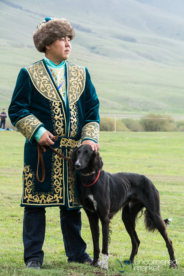 Taigan Hunting Dog and His Kazakh Master - World Nomad Games, Kyrgyzstan