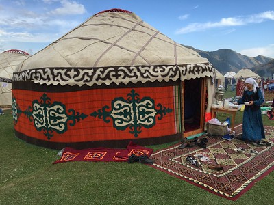 Colorful Yurts at Kyrchyn Jailoo Cultural Festival - World Nomad Games, Kyrgyzstan