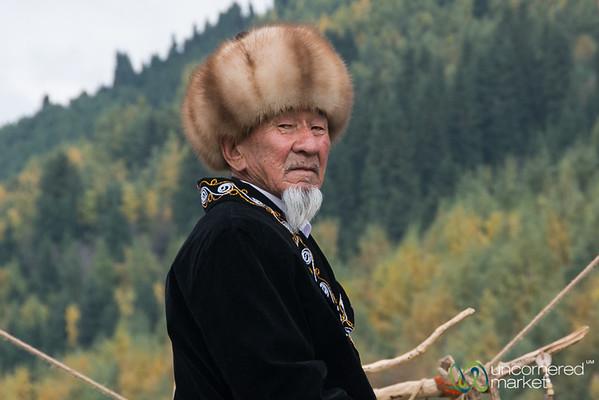 Kyrgyz Elder on Horseback