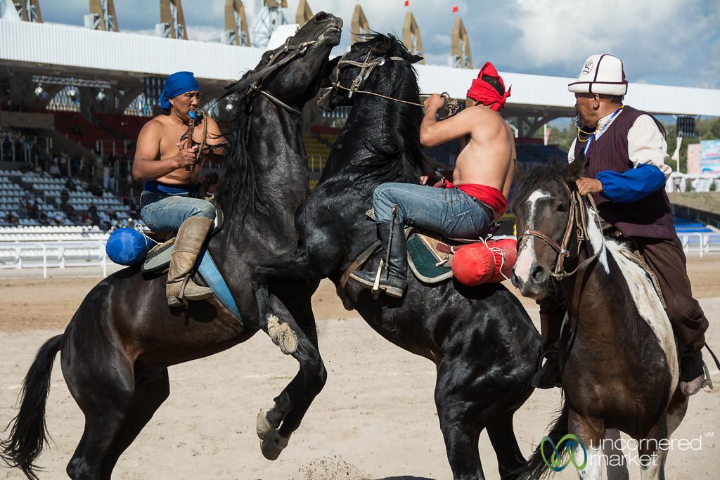 Er Enish (Wrestling on Horses) Competition - World Nomad Games, Kyrgyzstan