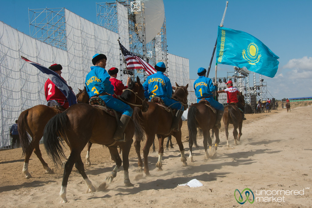 Kazakhstan vs. America in Kok-boru - World Nomad Games, Kyrgyzstan