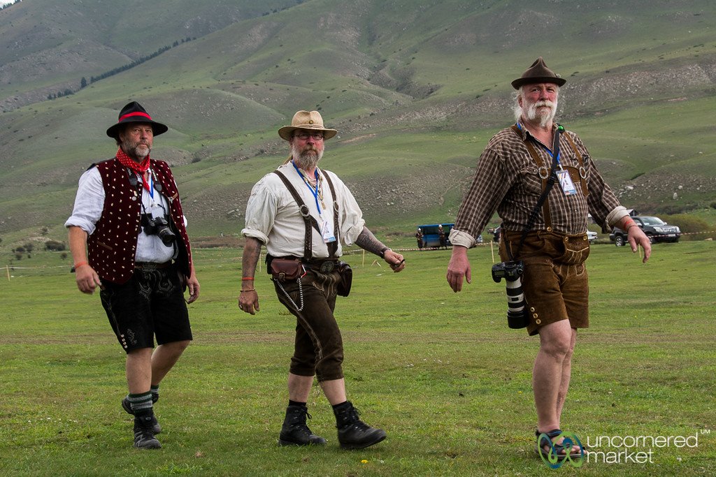 Germans in Lederhosen Compete in Archery at World Nomad Games - Kyrgyzstan