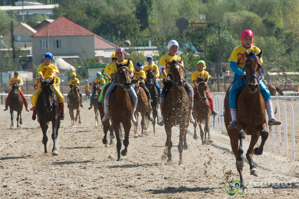Youth Horse Racing, Riding Without Saddles - World Nomad Games, Kyrgyzstan