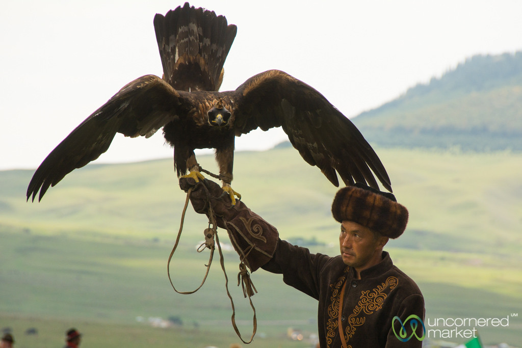 Golden Eagle and Master - World Nomad Games, Kyrgyzstan