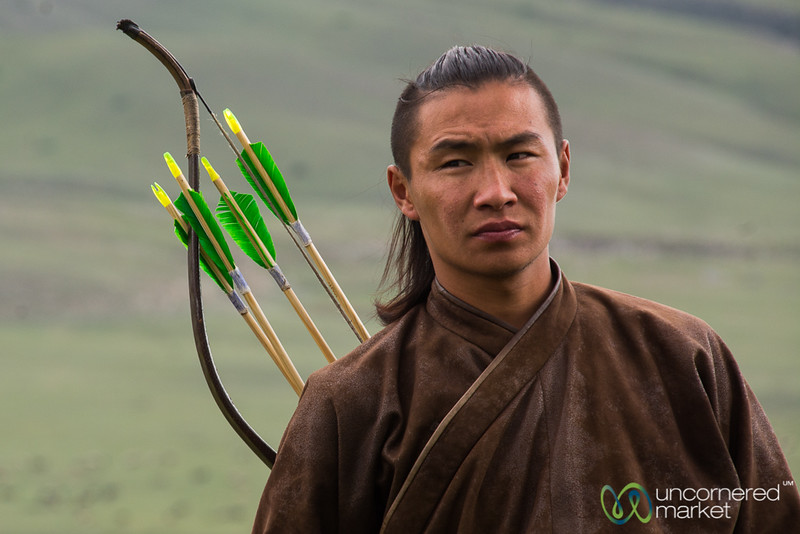 An Archer Prepares for Competition - World Nomad Games, Kyrgyzstan