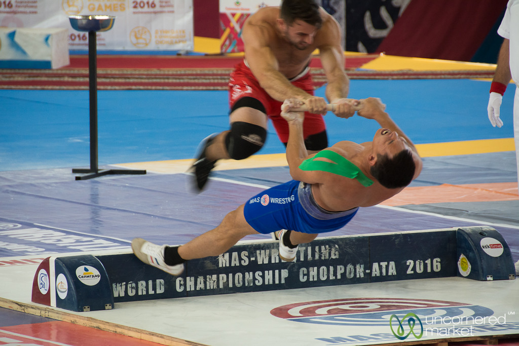 Mas Wrestling Competitions at the World Nomad Games 2016 - Kyrgyzstan