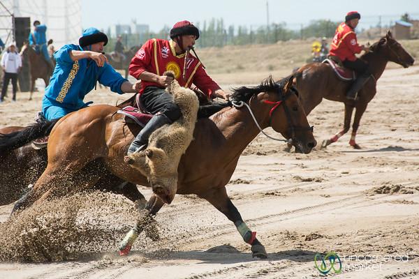 Kok-boru Action in the Final Game Between Kyrgyzstan and Kazakhstan - World Nomad Games 2016, Kyrgyzstan