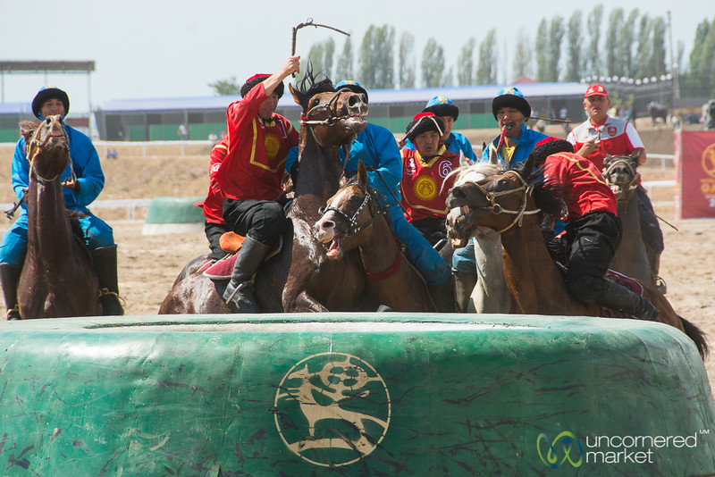 Kyrgyzstan-Kazakhstan Kok-boru Final Match at World Nomad Games 2016