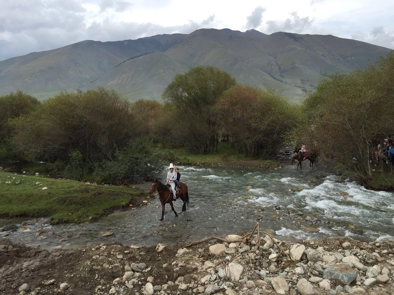 Kyrgyz Taxi Ride, Kyrchyn Gorge - World Nomad Games, Kyrgyzstan