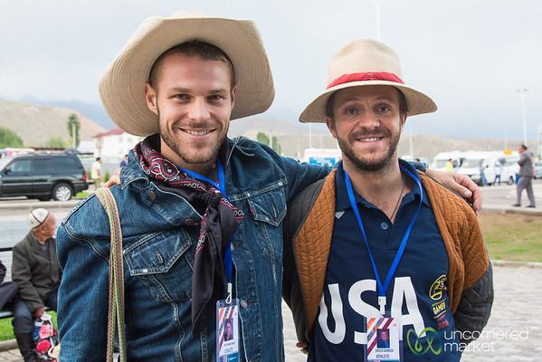 Nomad Cowboys (aka, American Kok-boru Team) at World Nomad Games, Kyrgyzstan