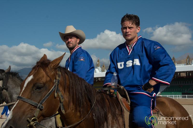 The U.S. Kok-boru Team at the World Nomad Games, Kyrgyzstan