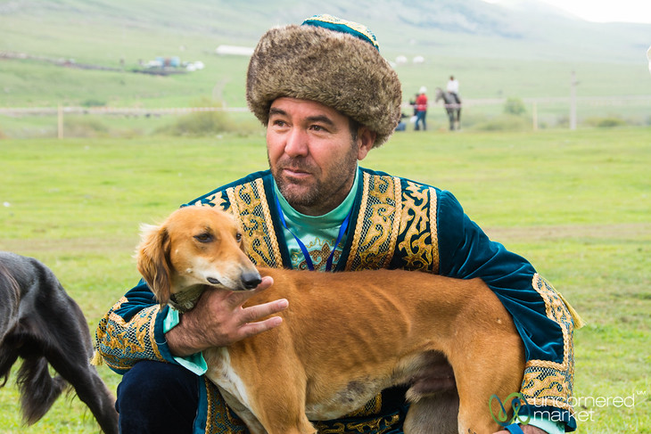 Hunting Dog and His Master - World Nomad Games, Kyrgyzstan