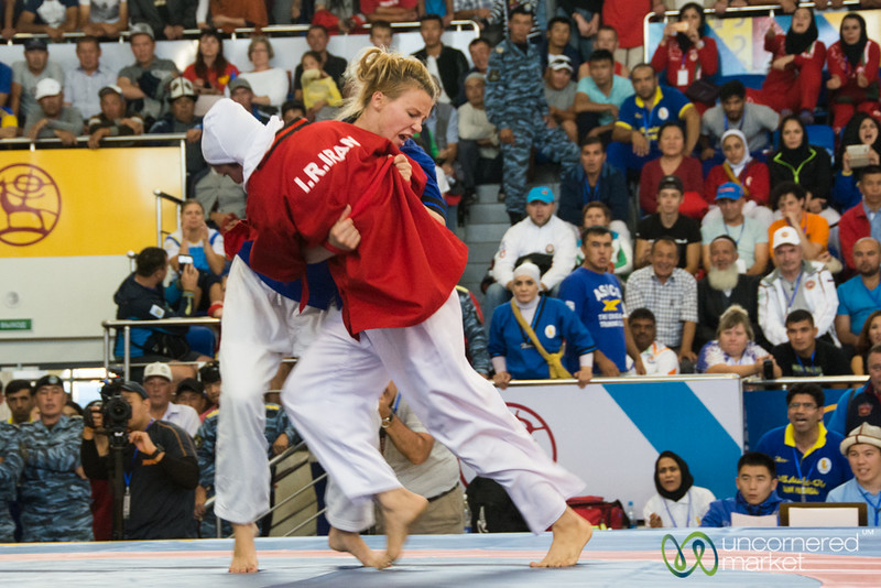 Women's Alysh Wrestling at the World Nomad Games in Kyrgyzstan