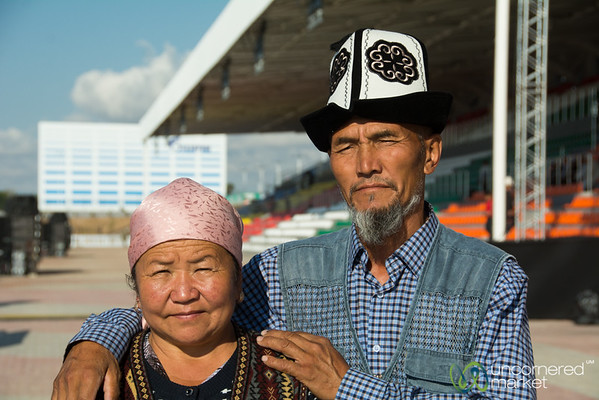Kyrgyz Spectators at the World Nomad Games - Kyrgyzstan