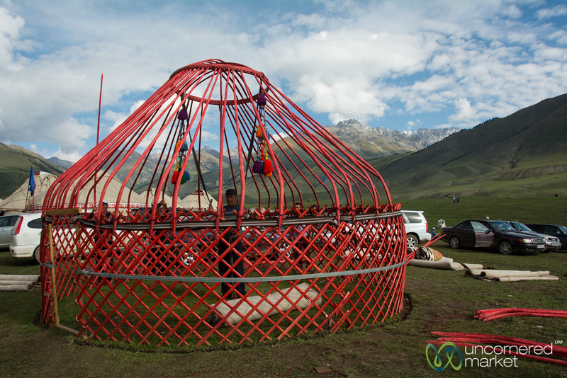 Yurt in the Making - World Nomad Games, Kyrgyzstan