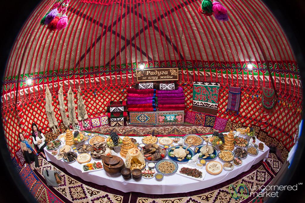 Inside a Kyrgyz Yurt, Fisheye View - World Nomad Games, Kyrgyzstan