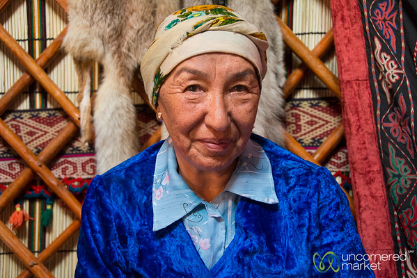 Kyrgyz Grandmother in Yurt - Kyrchyn Cultural Festival, Kyrgyzstan