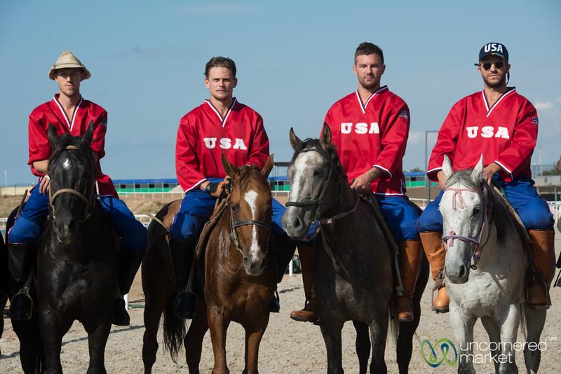 Nomad Cowboys (American Kok-boru team) at World Nomad Games, Kyrgyzstan