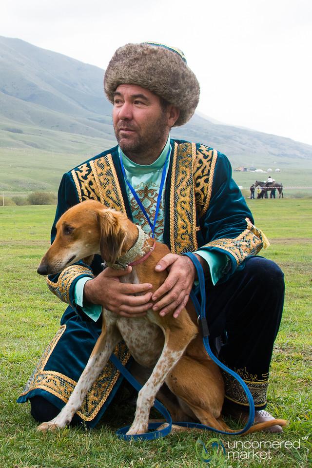 Kazakh Hunting Dog and His Master - World Nomad Games, Kyrgyzstan